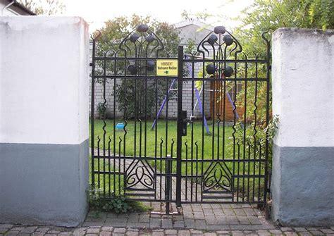 Schmiedeeisen Gartentor Im Jugendstil Stadtgartentoranlagen