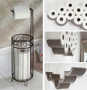 Rangement Papier Toilette Original : notre astuce rangement salle de bain pour vous faciliter le quotidien ~ Teatrodelosmanantiales.com Idées de Décoration