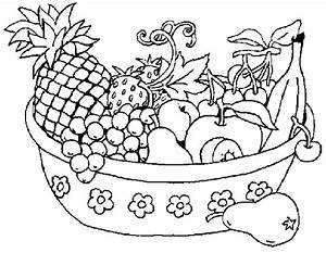fruits and vegetables clipart black and white 2 | Clipart ...