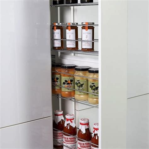 kitchen cupboard pull out storage slim pull out pantry storage for kitchen cabinets tansel 7906