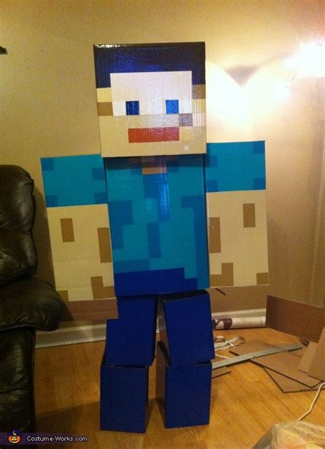 awesome diy minecraft steve costume diy tutorial