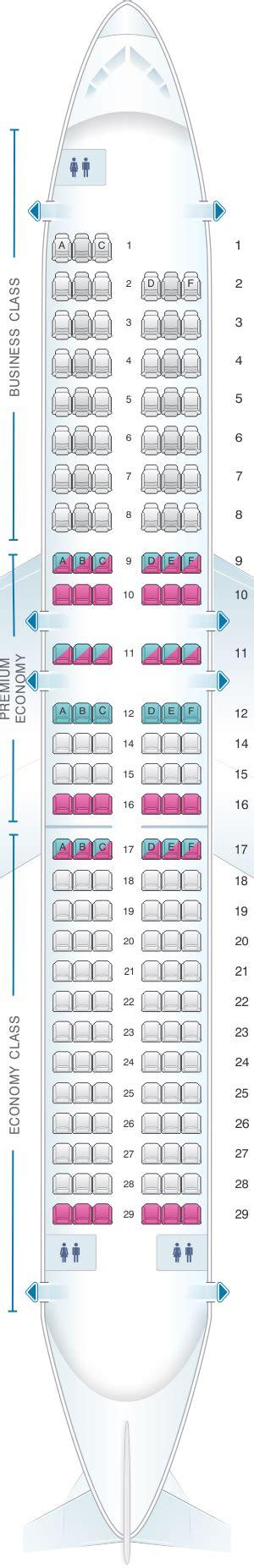 siege premium air plan de cabine air airbus a320 europe seatmaestro fr
