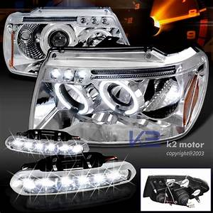 Jeep grand cherokee dual halo led chrome projector