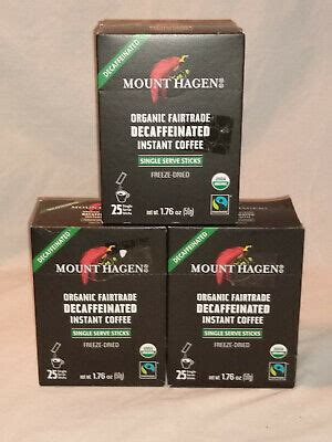 Mount hagen has been carefully selected and separately harvested to bring you the highest quality, mild and naturally rich in flavoured coffee. 3pks Mount Hagen Organic Instant Coffee Freeze Dried Fair Trade - Decaf 819385023340 | eBay