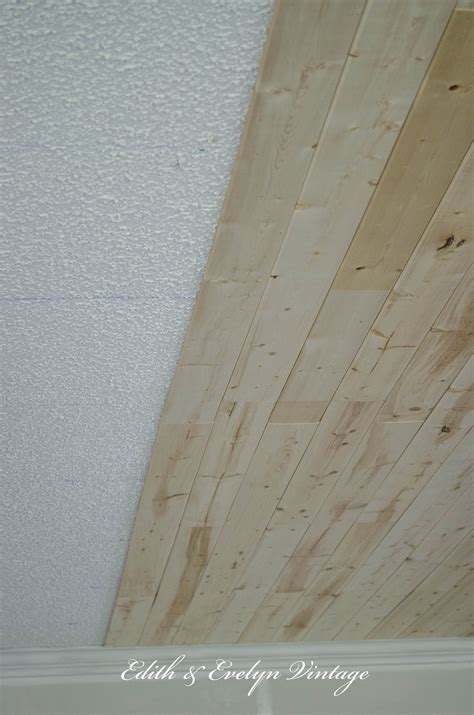 Plank Ceiling Tiles by How To Plank A Popcorn Ceiling For The Home Popcorn