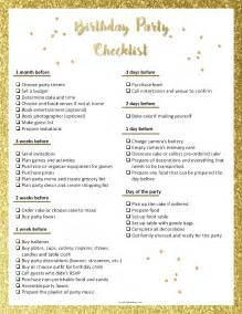 Adult Birthday Party Planning Checklists
