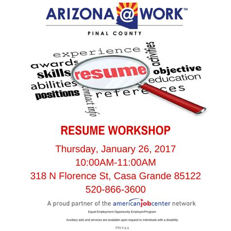 resume 101 workshop post png arizona work