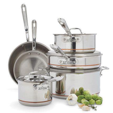 clad  stainless steel  piece set sur la table cookware set stainless steel cookware
