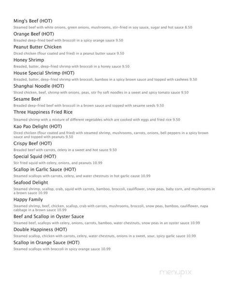 menu   happiness express  omaha ne