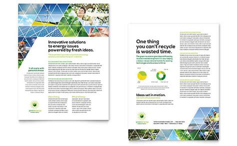 energy environment marketing brochures flyers