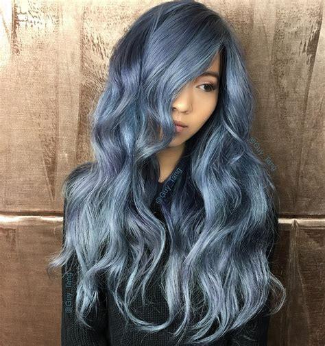 denim effect denim blue hair colors youll love