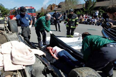 Mock Car Accident At St. Vincent De Paul