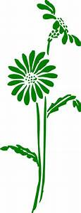 Green Flowers Clip Art at Clker.com - vector clip art ...