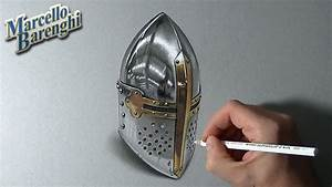 How to draw a medieval helm - YouTube