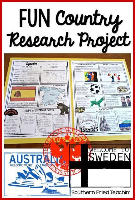 country report project ideas  pinterest