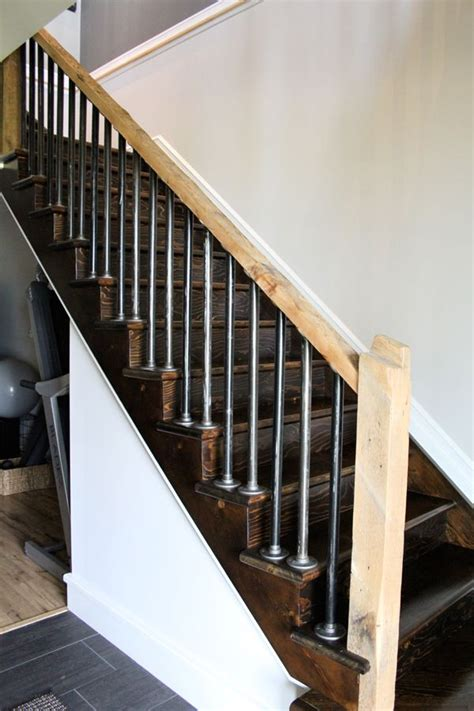 plumbing pipe handrail iron pipe stair railings and rustic rails http 1556