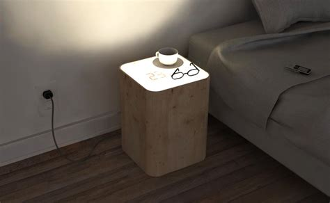 Clock Side Table By Soriano Blanco Doubles Up As Lamp In