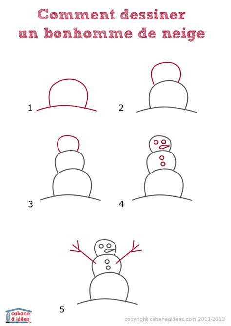 comment dessiner un bonhomme de neige cabane 224 id 233 es