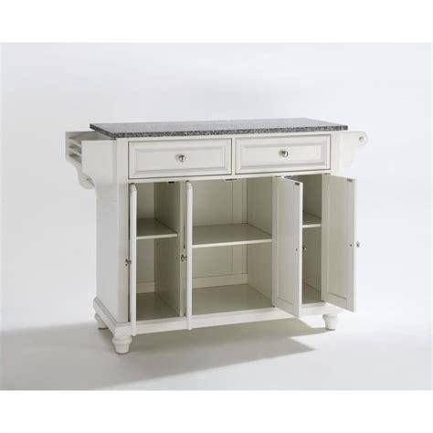 crosley furniture kitchen island crosley furniture cambridge solid granite top kitchen island in white kf30003dwh