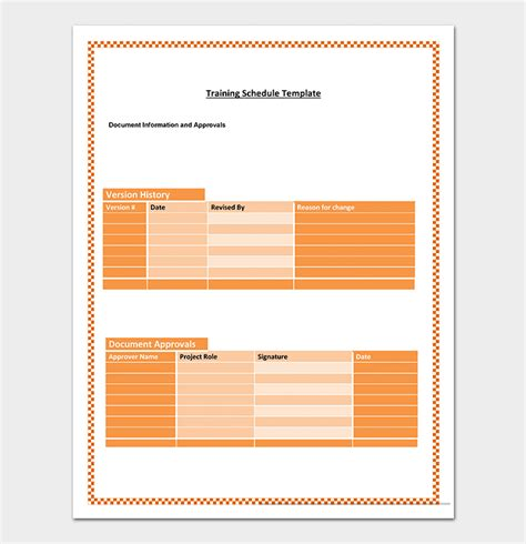 training plan template   plans schedules