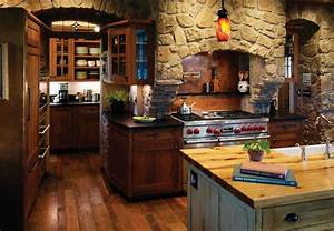 rustic kitchen interior design carters kitchenion With kitchen cabinet trends 2018 combined with log cabin wall art
