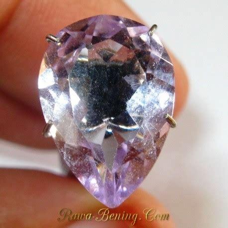 batu permata natural amethyst pear shape light purple 4 00