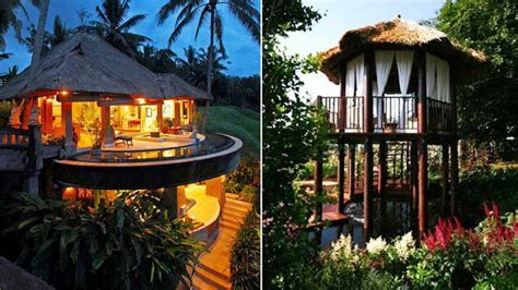 Bloombety : Tree House Hotels With Straw Roof Tree House