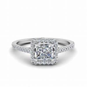 princess cut square halo delicate engagement diamond ring With wedding rings square cut diamond