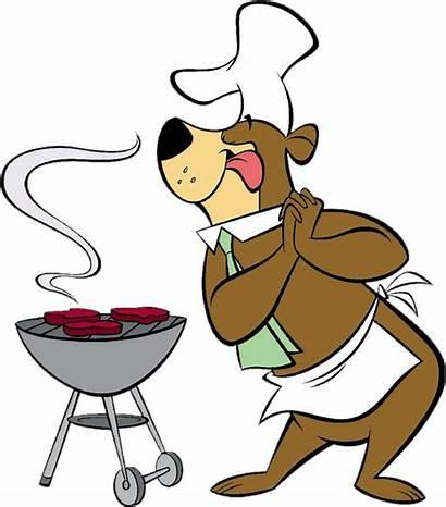 Barbecue Bbq Cuisinier Dessin Ours Miam Yogi
