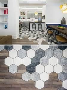 le motif hexagone en decoration dinterieur 20 idees With carrelage adhesif salle de bain avec bougies led casa