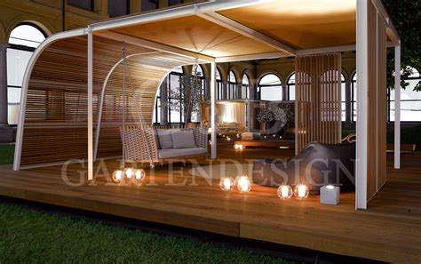 Pavillon Gartensauna  Whirlpool  Gempp Gartendesign