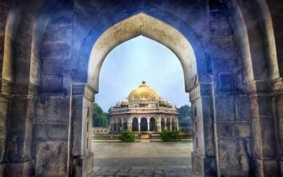 Temple Delhi India Akshardham Religious Background Wallpapers
