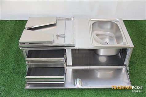 kitchen sink trailer stainless steel cer trailer kitchen 2 drawers sink 2943