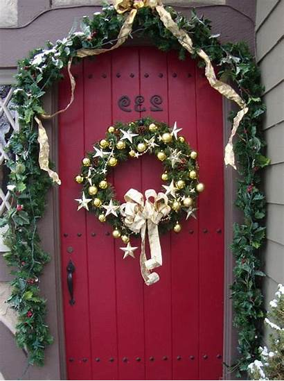 Door Christmas Decorations Decorating Doors Decorated Story