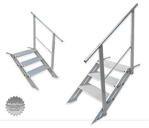 bureau 120 cm escalier en aluminium pour loft
