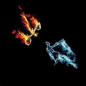 Fire Dragon vs Ice Dragon | Fire dragon vs Ice dragon by ...