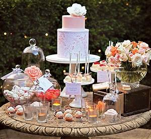 quotsweet as a peachquot dessert table hostess with the mostessr With wedding shower dessert table