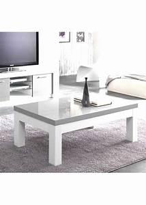 Table Grise Et Blanche : table basse gris et blanc ~ Teatrodelosmanantiales.com Idées de Décoration