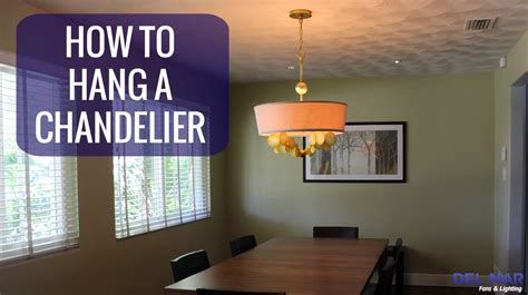 how to add a chandelier to a ceiling fan how to hang a chandelier