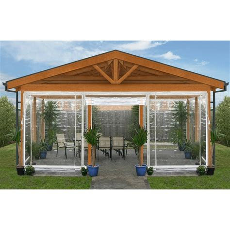 smart home products   cm clear pvc  white blind outdoor bistro