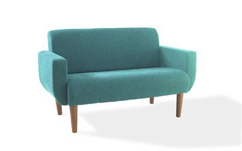 sofa turquesa sala sof 193 2 lugares azul turquesa para sala lirio 140x76x83cm