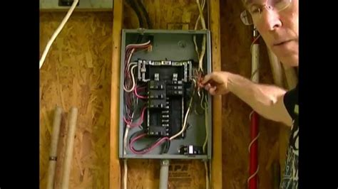 how to add a circuit to a load center breaker box