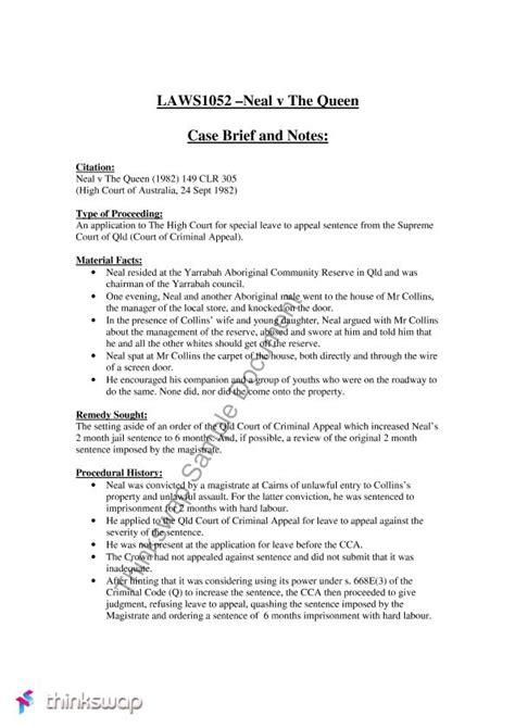 law school case brief brief template cyberuse