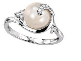 pearl wedding rings pearl wedding rings classical and beautiful ipunya