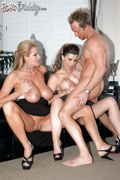 Lingerie Model Sara Stone Has Her Milf Big Tits Teased In A Threesome