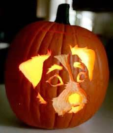 Scary Faces For Pumpkins by Make A Fetching Jack O Lantern With A Dog Portrait The