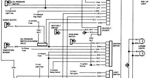 85 chevy truck wiring diagram 85 chevy other lights work but the brake lights just stopped