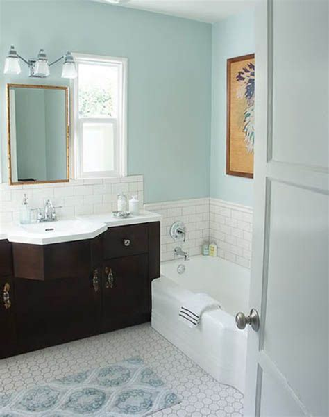 Bathroom Color Combos by Color Combo Light Floors Vanity Pale Blue Walls