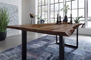 Esstisch Akazie Baumkante : esstisch baumkante massiv akazie nussbaum 180 x 90 schwarz ~ Watch28wear.com Haus und Dekorationen