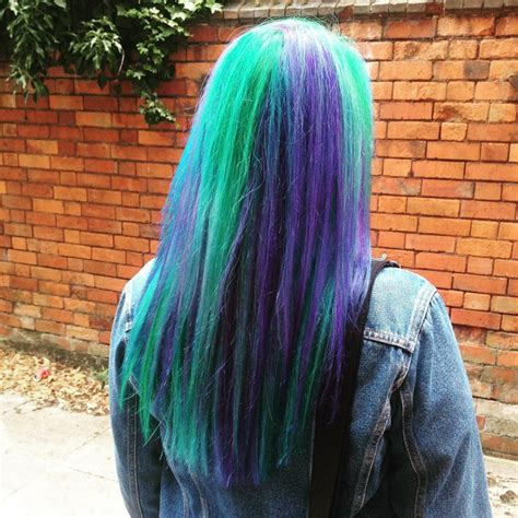 Bright Green And Purple Hair Colors Ideas
